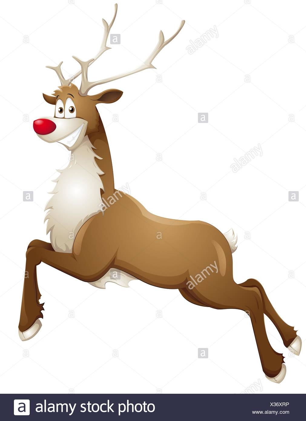 grinning reindeer Stock Photo