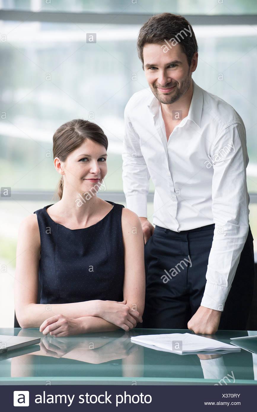 Business associates, portrait - Stock Image