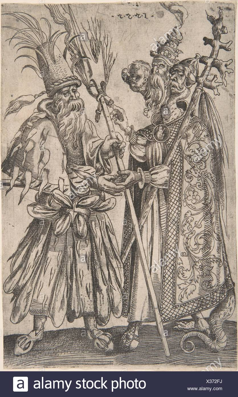 Satire On The Papacy Artist Melchior Lorck Danish Flensburg
