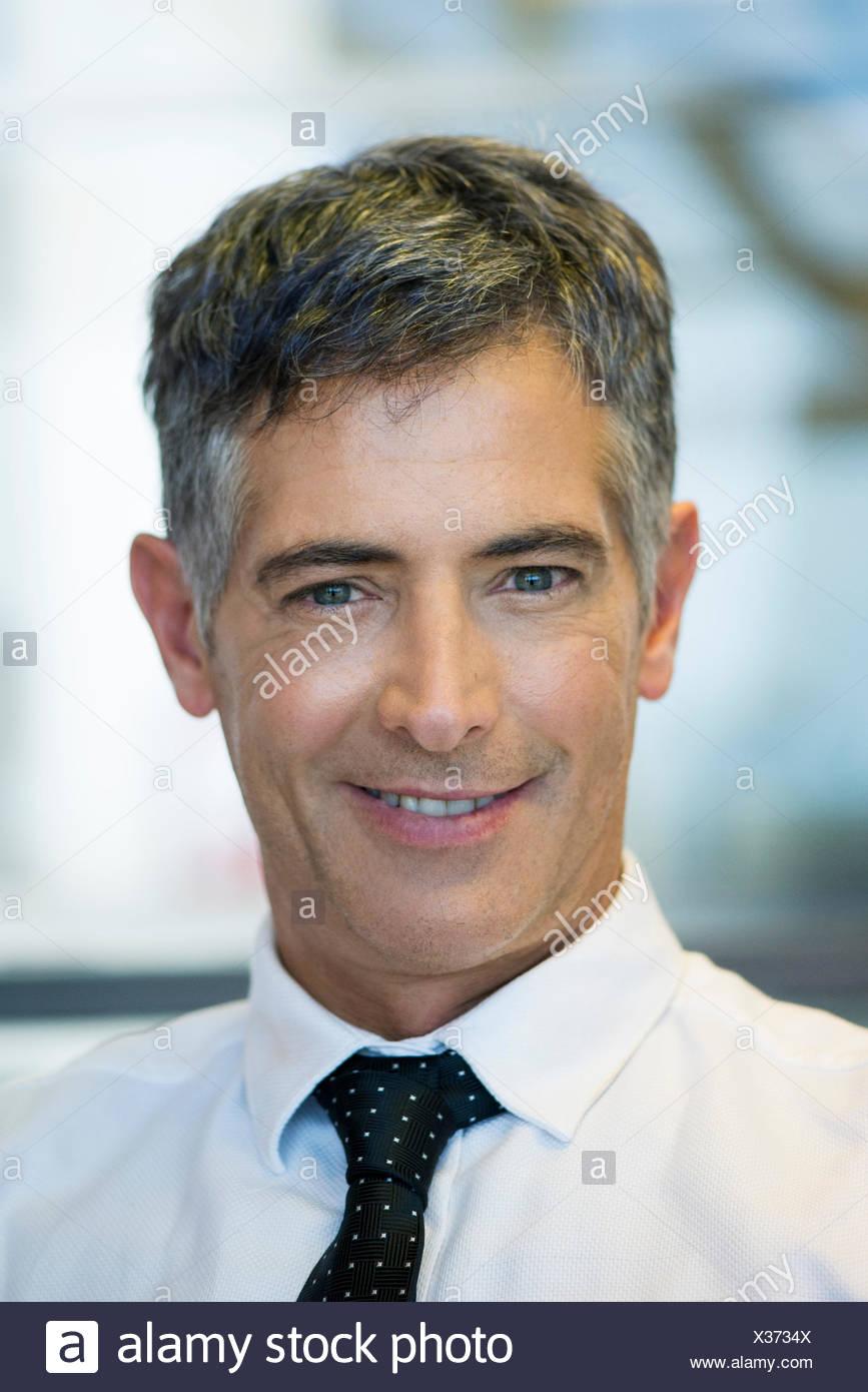 Mature businessman, portrait - Stock Image