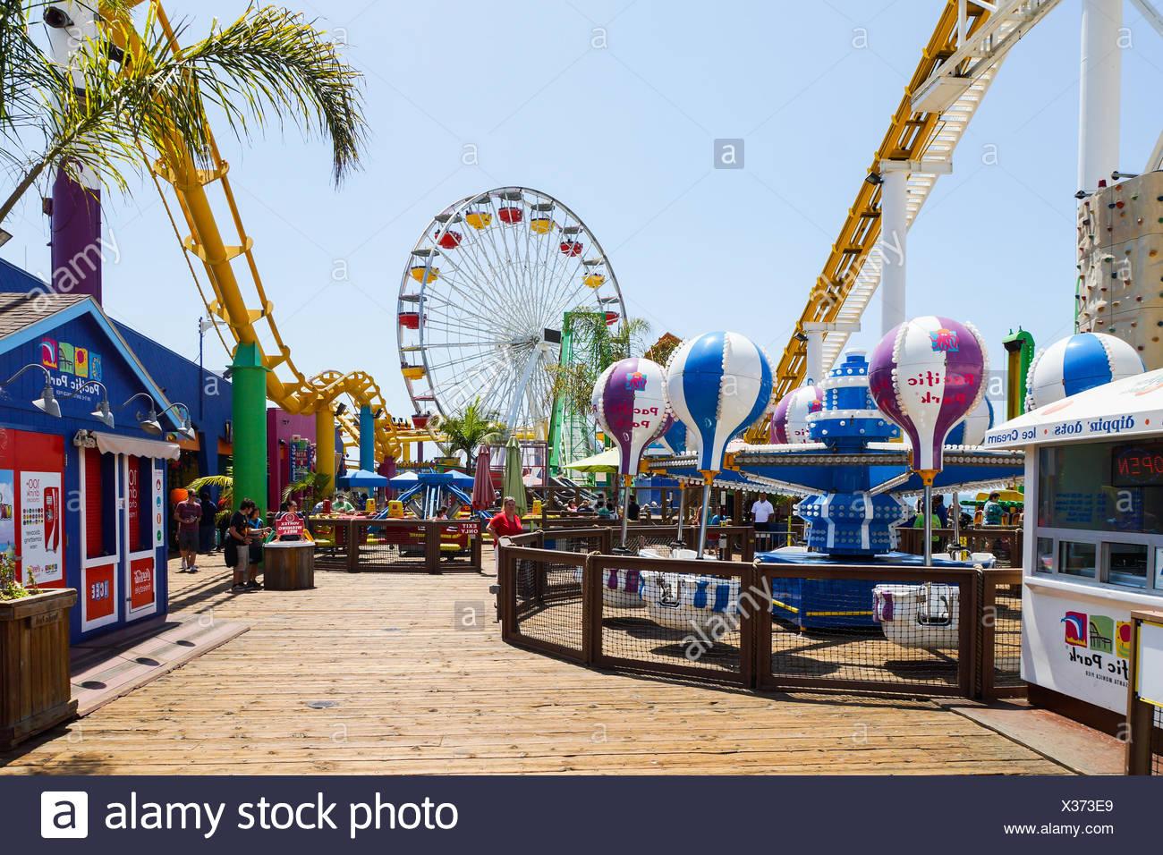 Fun at Santa Monica Pier - Stock Image