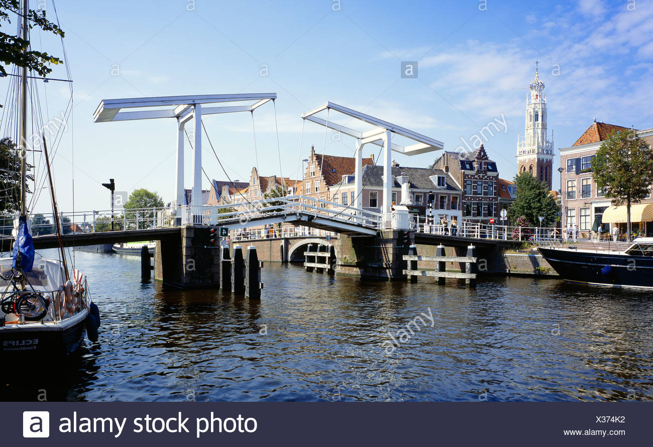 characteristic view of haarlem, north holland, the netherlands, europe - Stock Image