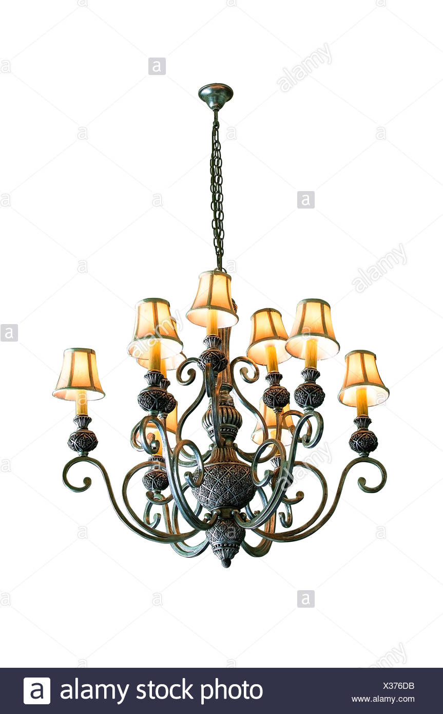 Vintage chandelier isolated on white background with clipping path vintage chandelier isolated on white background with clipping path aloadofball Images