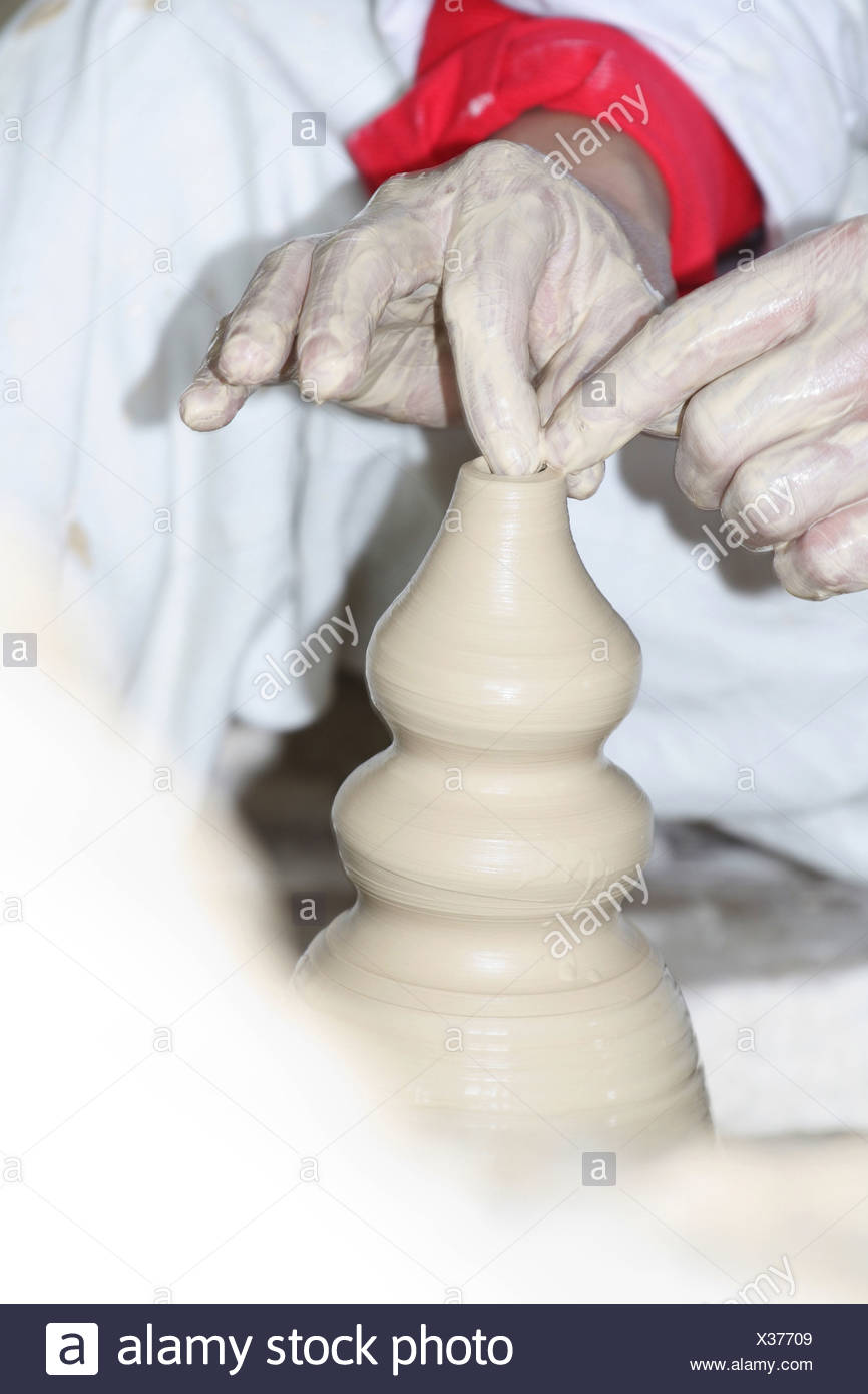 porcelain production - Stock Image