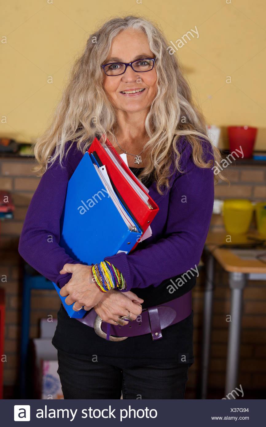 Attractive teacher Stock Photo