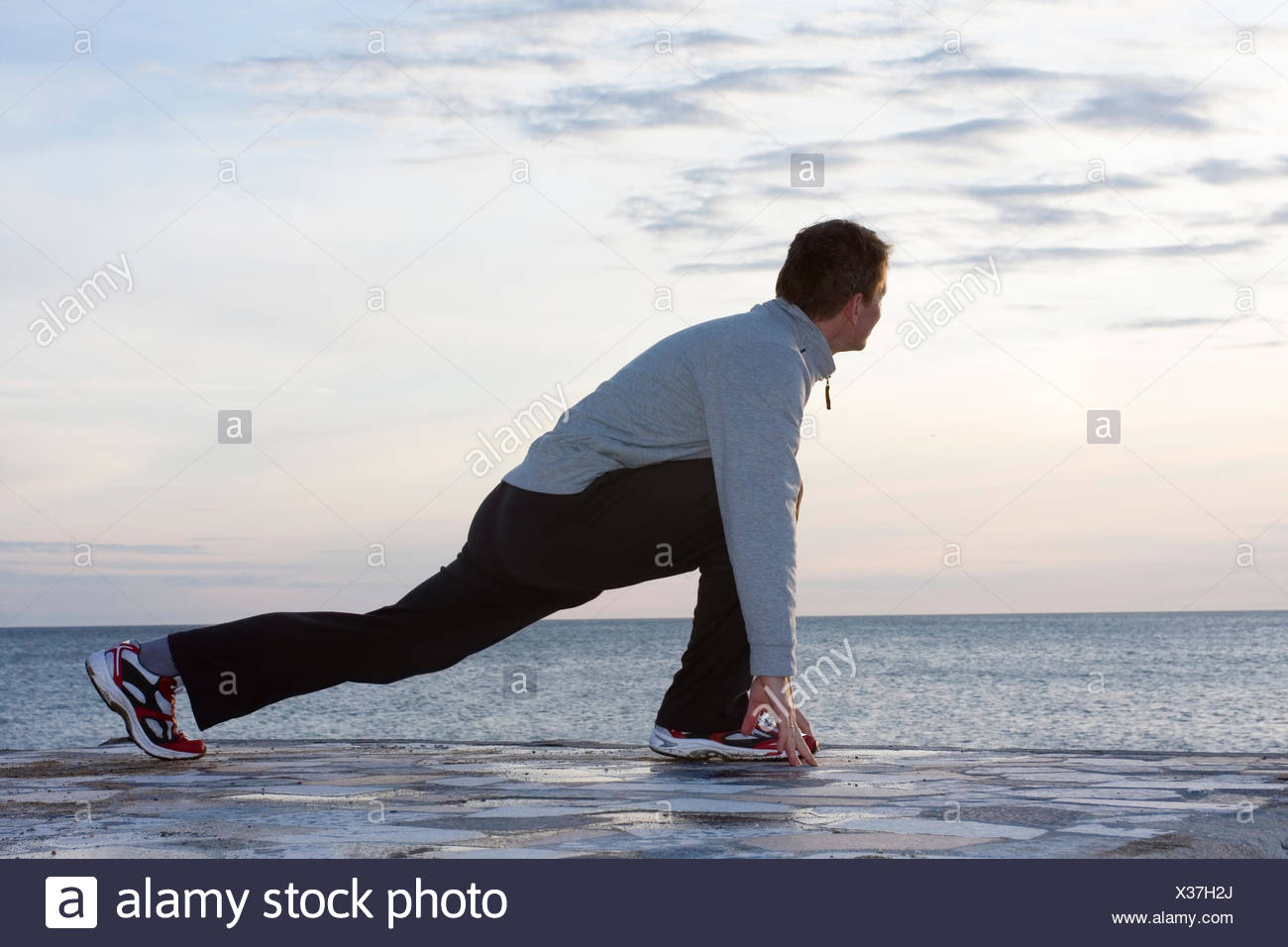 sport sports warm-up - Stock Image