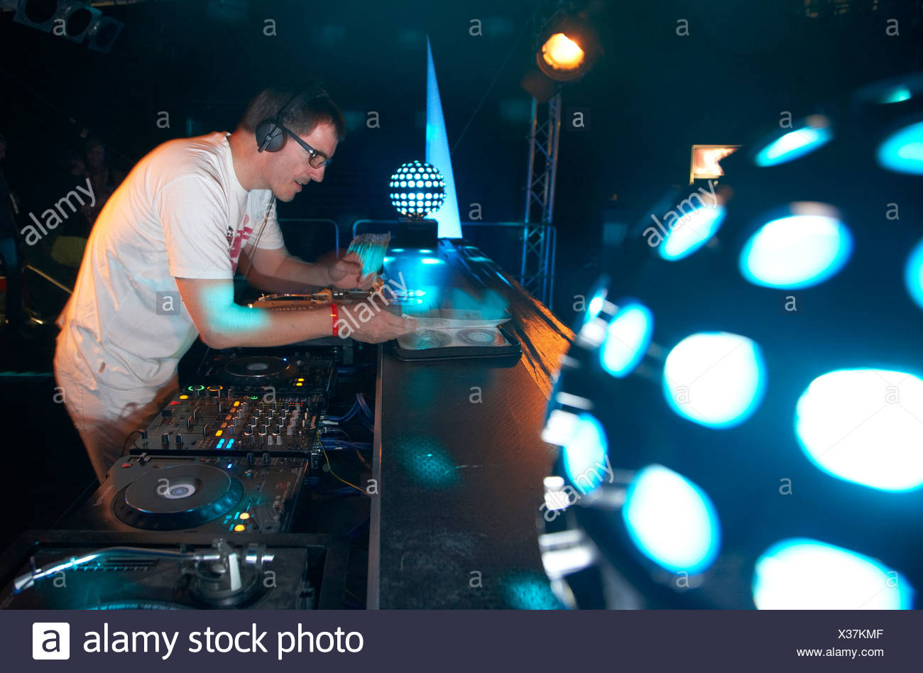 Techno Nature One Festival 2009, DJ Dr. Motte, Kastellaun, Rhineland-Palatinate, Germany, Europe - Stock Image