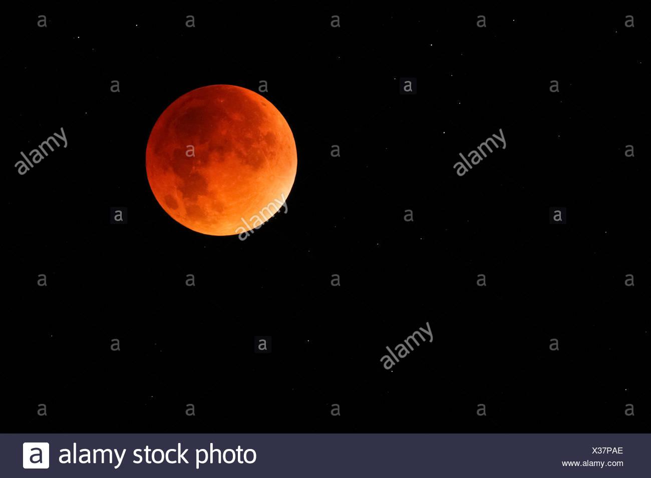 Blood moon,Switzerland - Stock Image