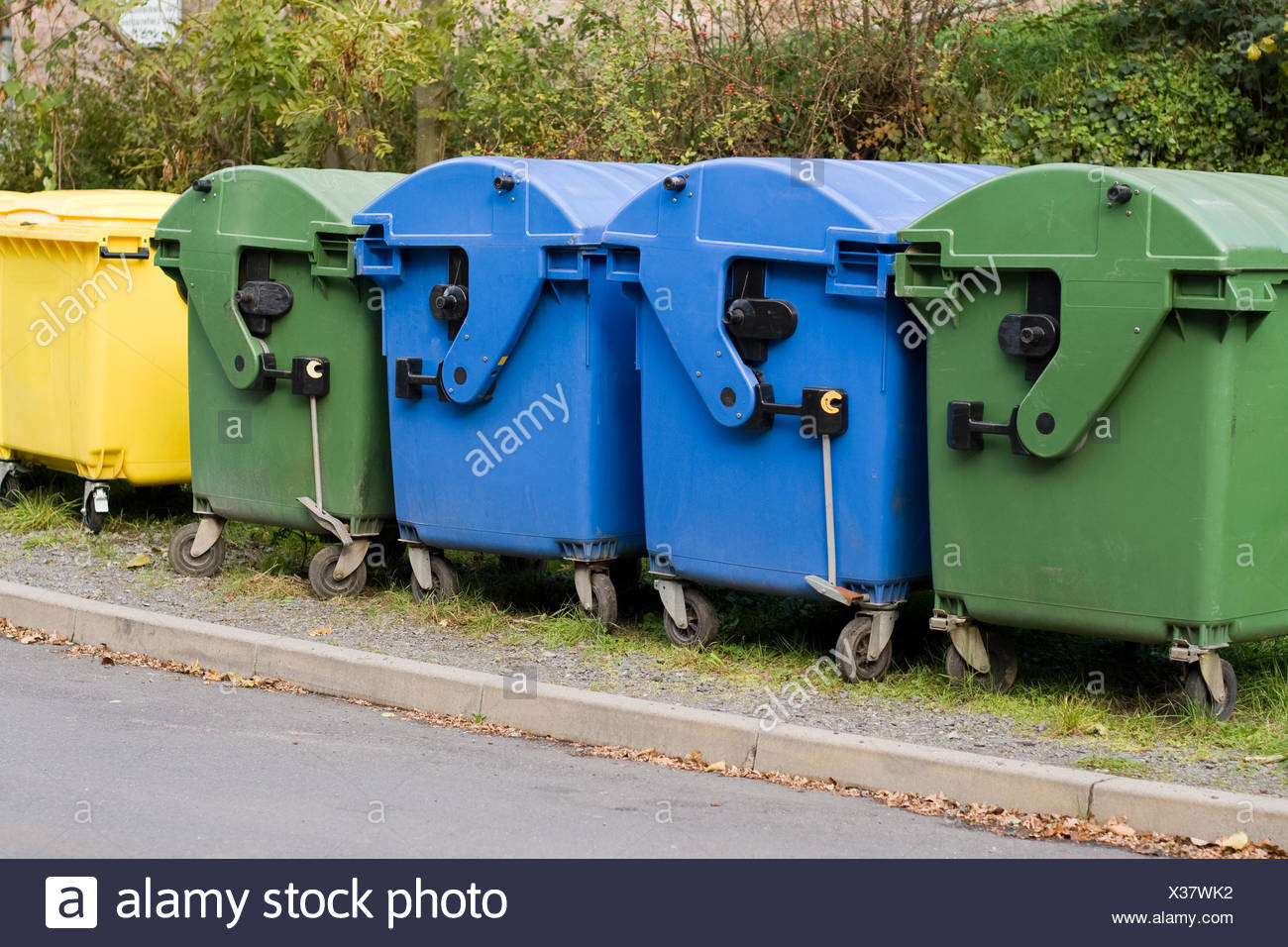 Waste containers - Stock Image