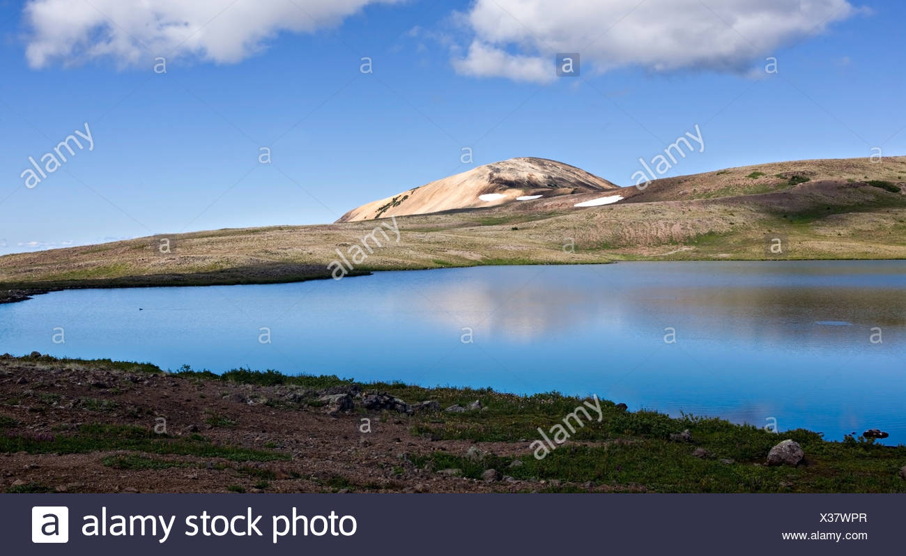 Volcanic landscape in the Rainbow Mountains of Tweedsmuir Park British Columbia Canada - Stock Image