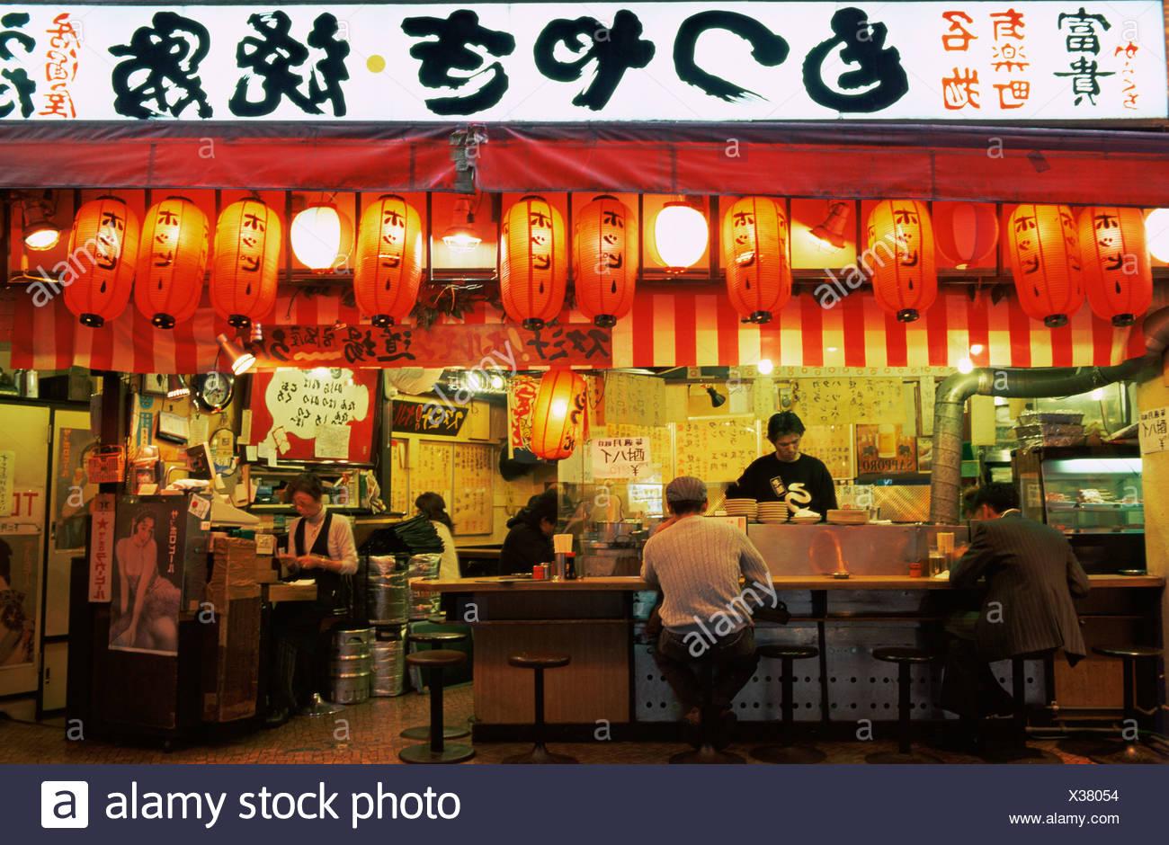 Japan Asia Honshu Tokyo Ginza Japanese Food Japanese Fast Food Restaurant Restaurants Outdoor Restaurant Din Stock Photo Alamy