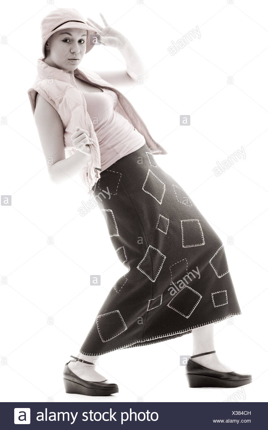 Girl in a new style - Stock Image