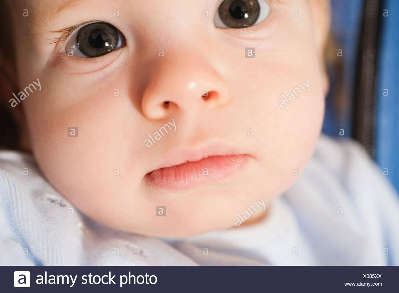 Portrait of a cute child. - Stock Image