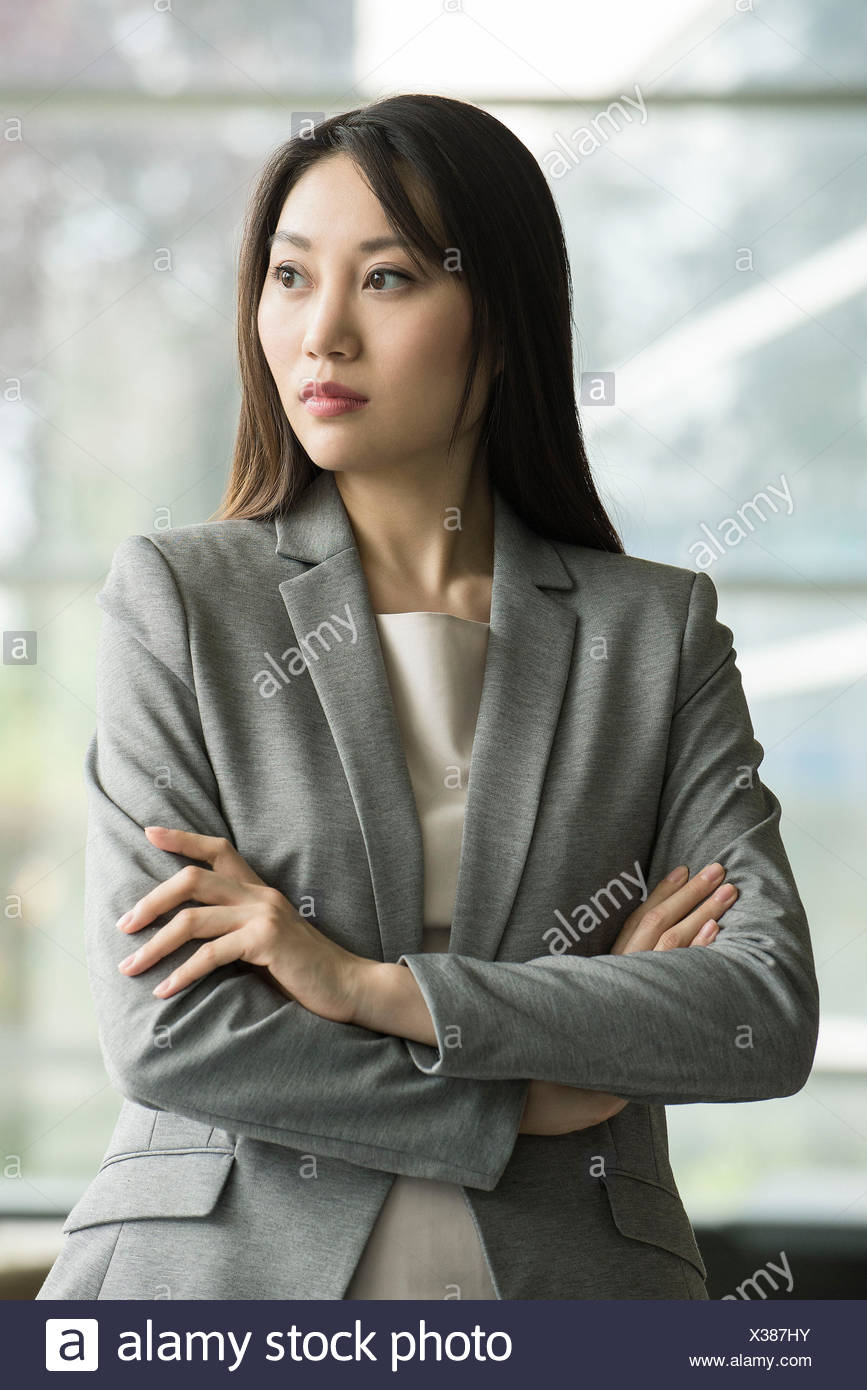 Businesswoman, portrait - Stock Image