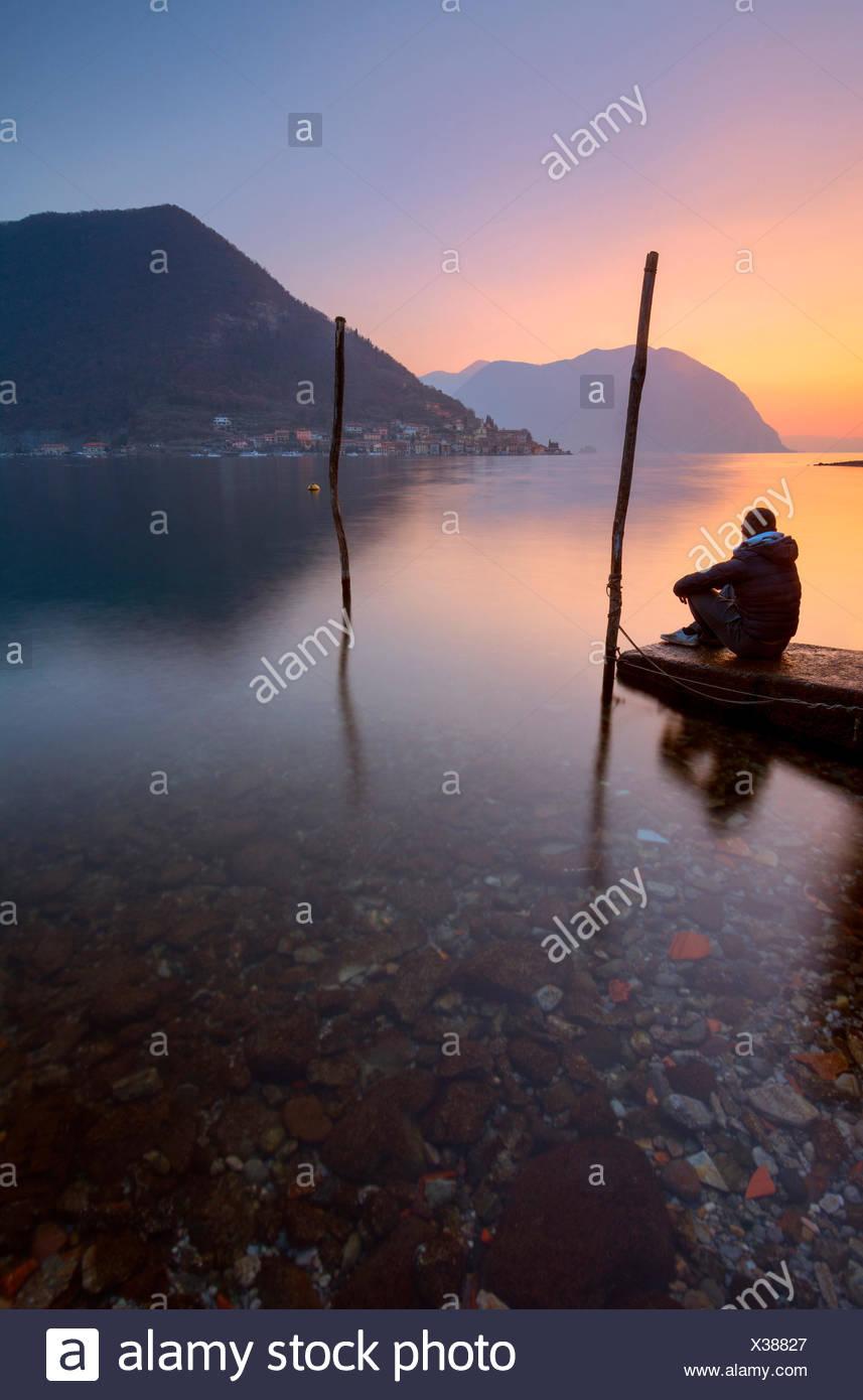 Peschiera Maraglio, Montisola, Province of Brescia, Italy - Stock Image