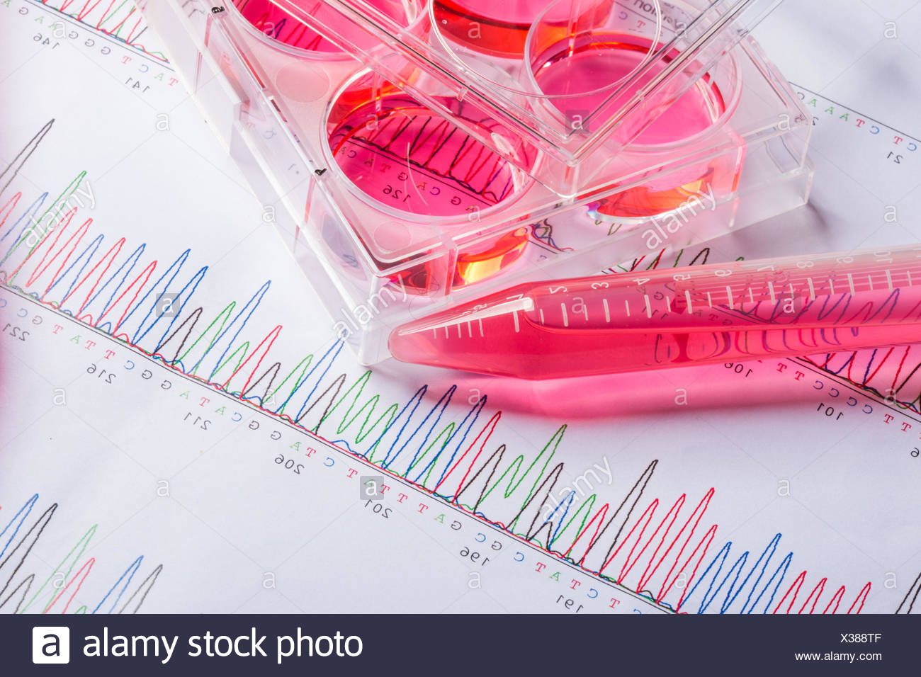 Genetic research. - Stock Image