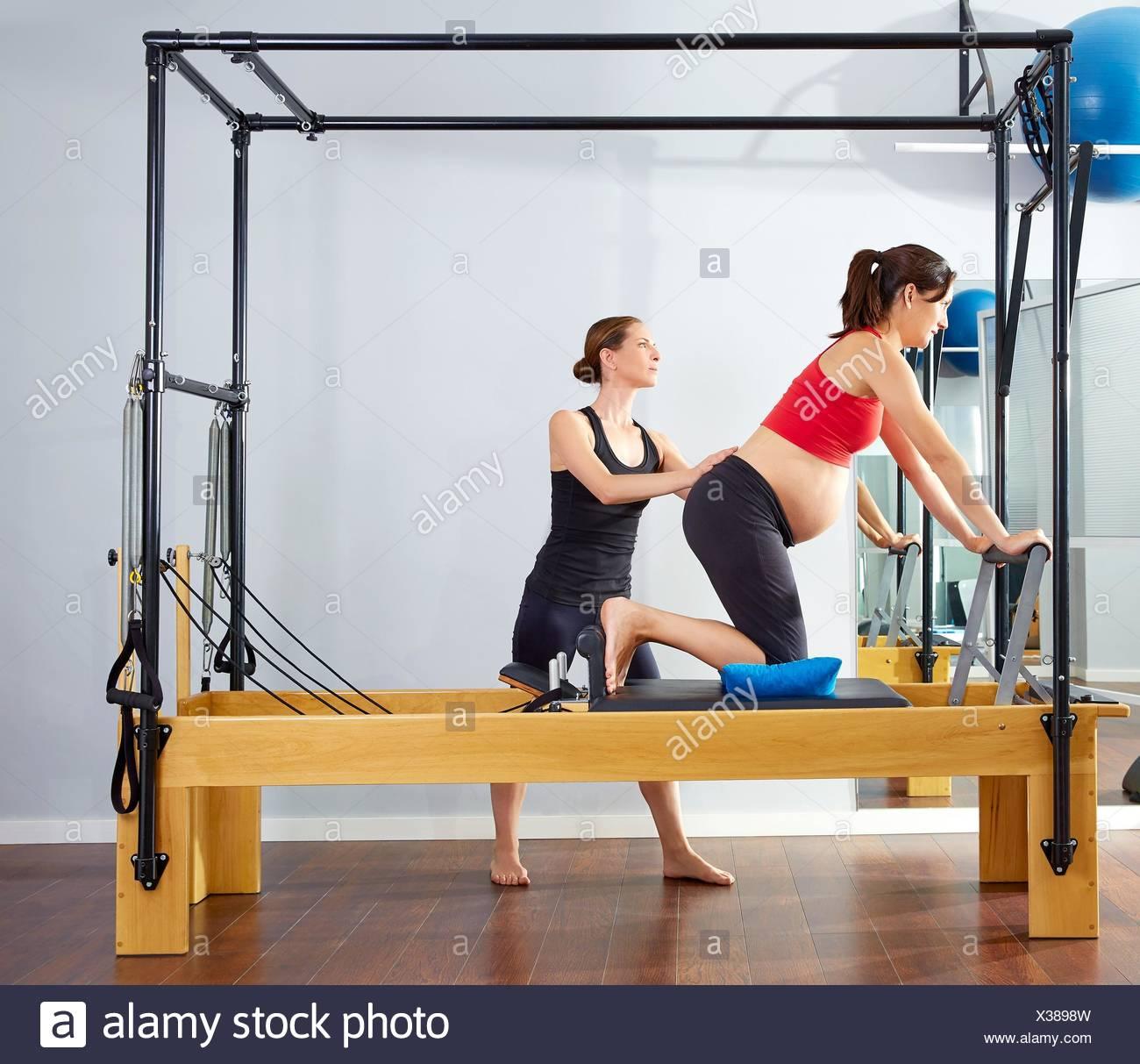 Woman Pilates Chair Exercises Fitness Stock Photo: Cadillac Interior Stock Photos & Cadillac Interior Stock
