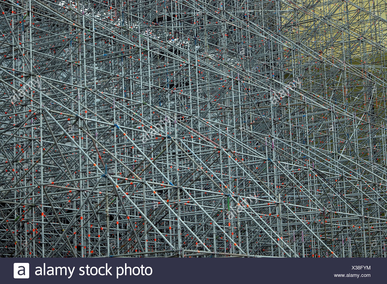 scaffold scaffolding metal Stock Photo