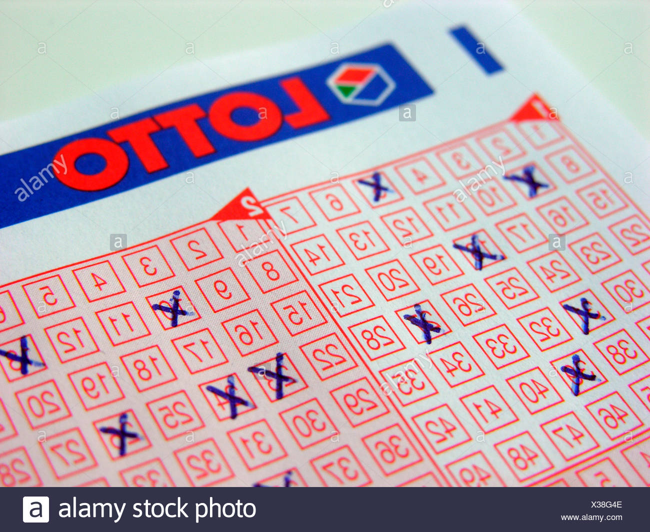 Lottery ticket - Stock Image