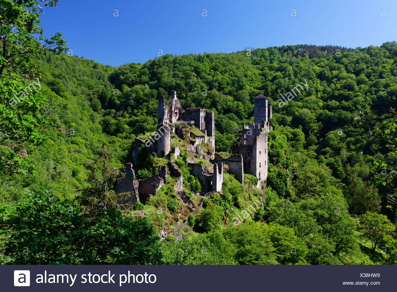 Tours de Merle, Merle towers, Dordogne valley, Correze, Limousin, France, Europe - Stock Image