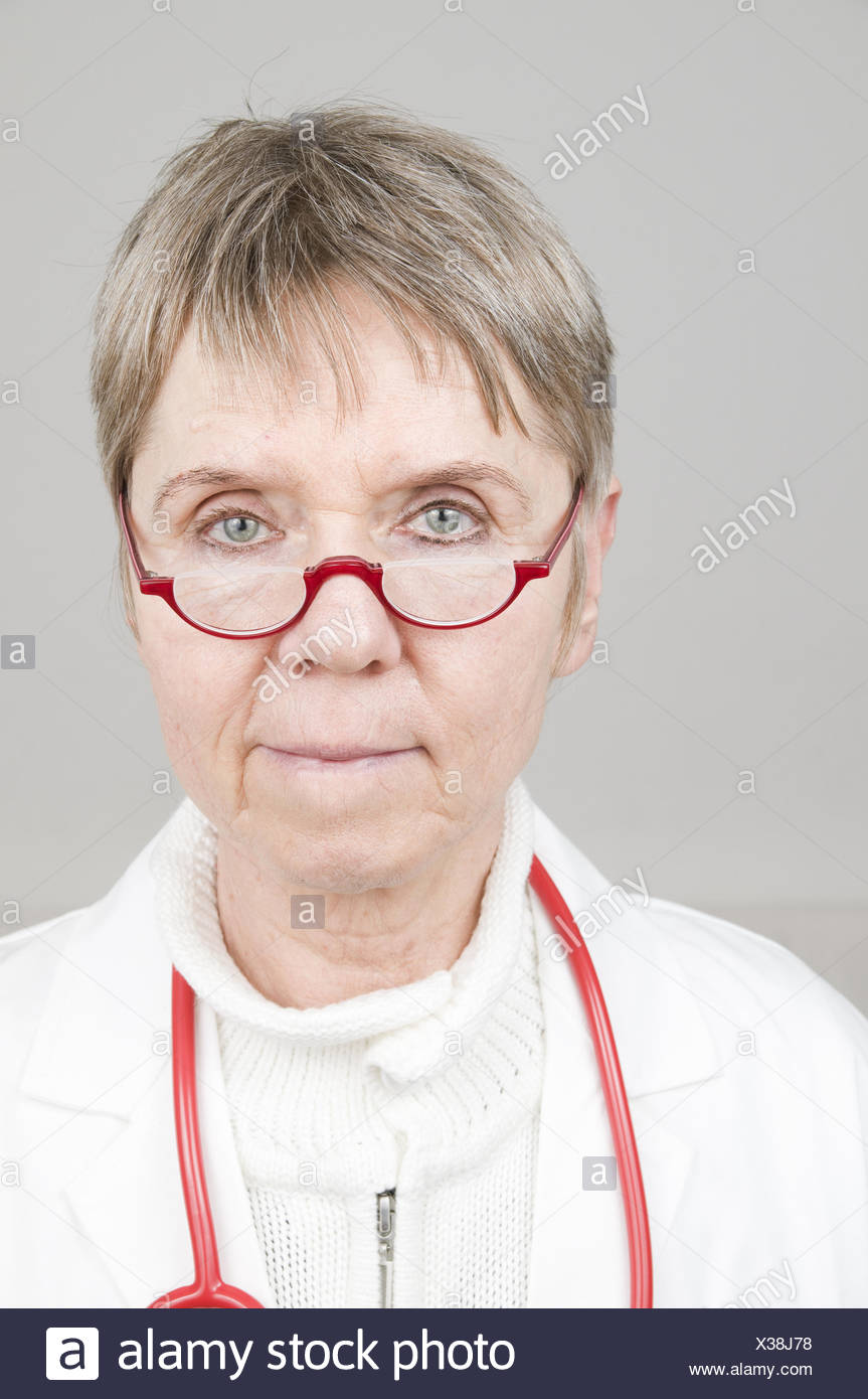 doctor front view - Stock Image