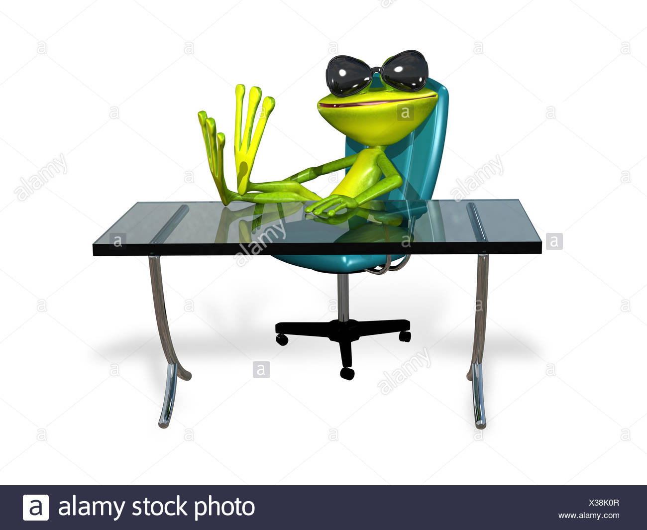 Frog At The Table   Stock Image