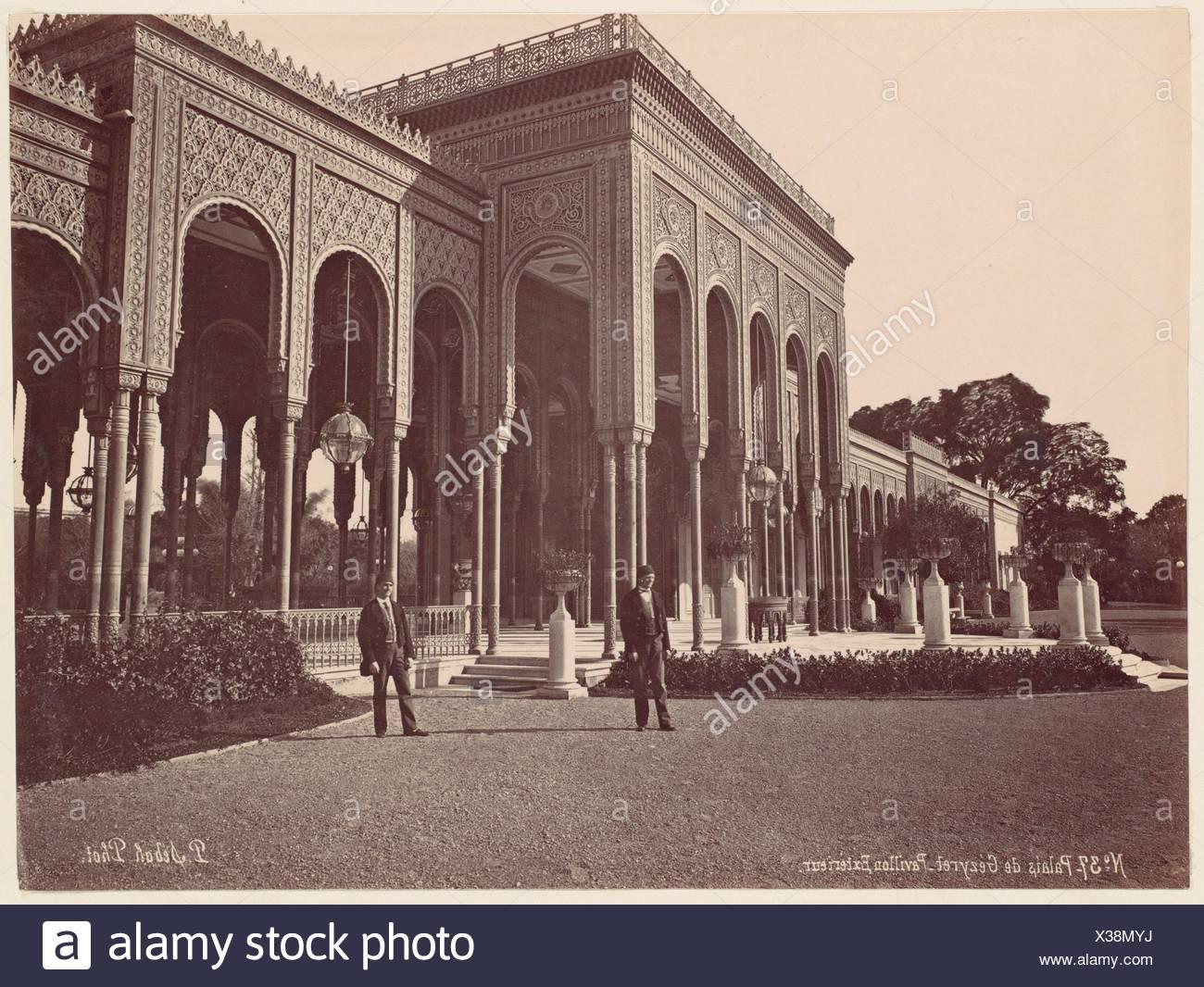 Palais de Gézyret, Pavillon Exterieur. Artist: J. Pascal Sébah (Turkish); Date: 1870s; Medium: Albumen silver print from glass negative; Dimensions: - Stock Image