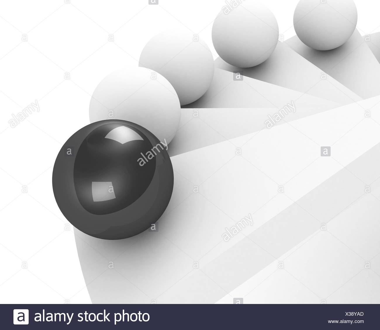 stairs up to success. leadership concept. black - Stock Image