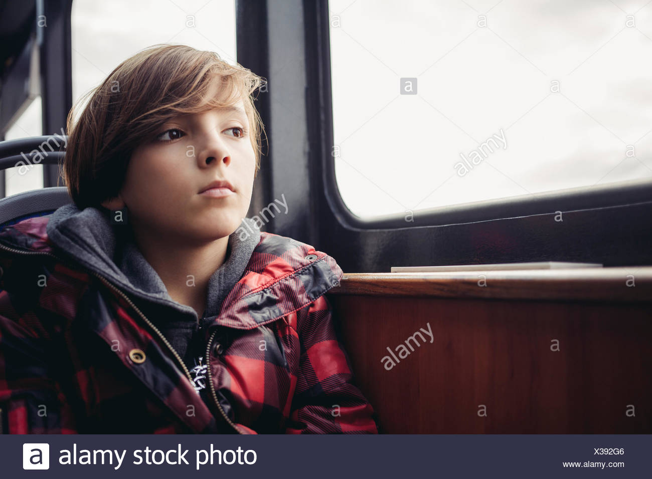Boy thinking - Stock Image
