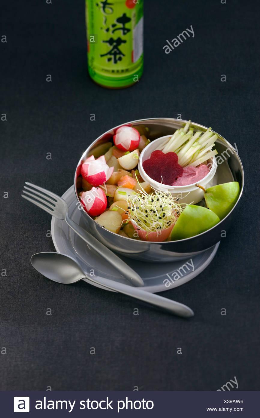 Vegetable Bento - Stock Image