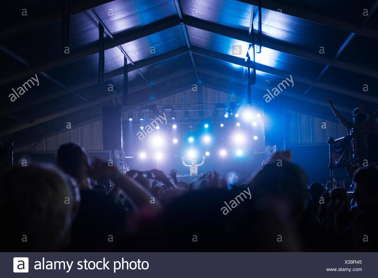 Helsinki, Uusimaa, Finland, Crowd at music festival - Stock Image