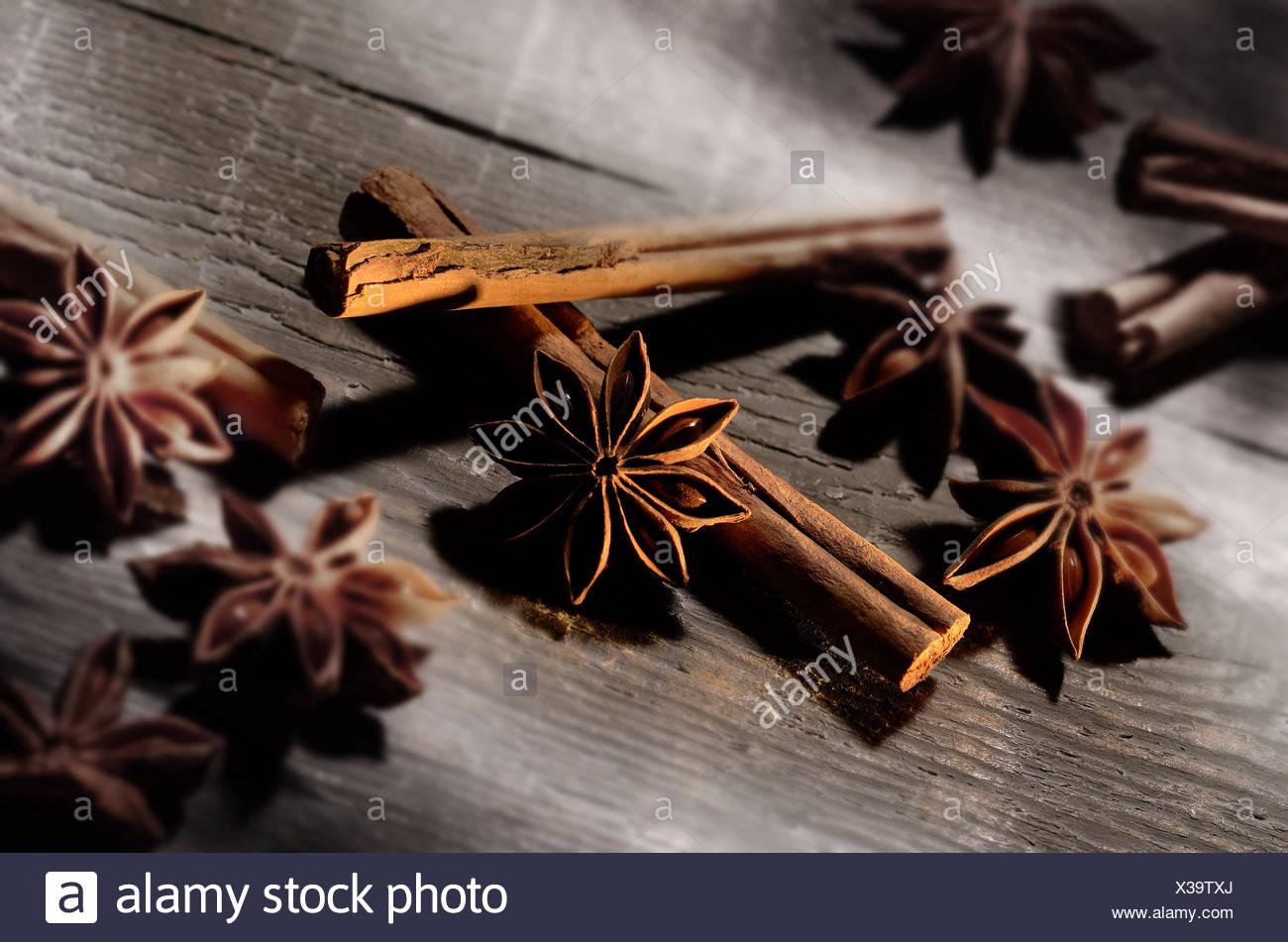 anise and cinnamon - Stock Image