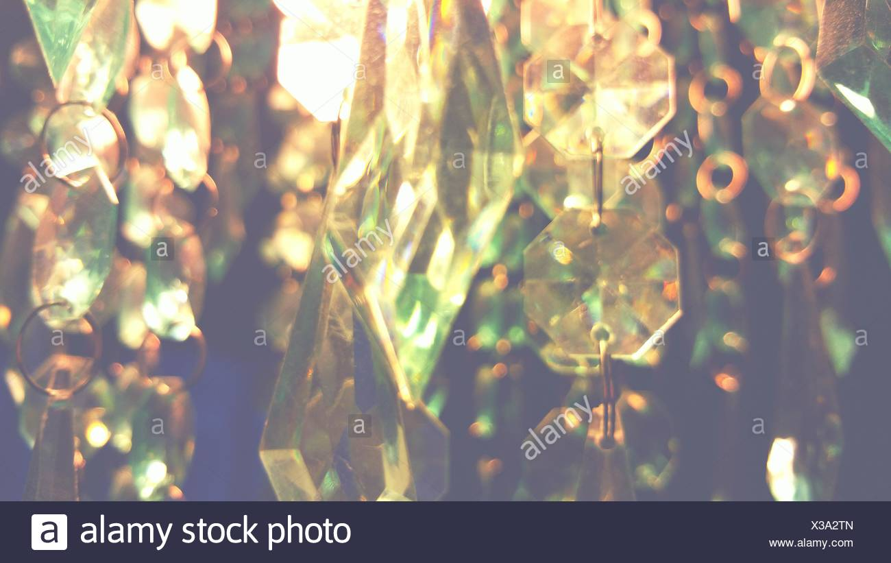 Close Up View Of Transparent Crystals - Stock Image