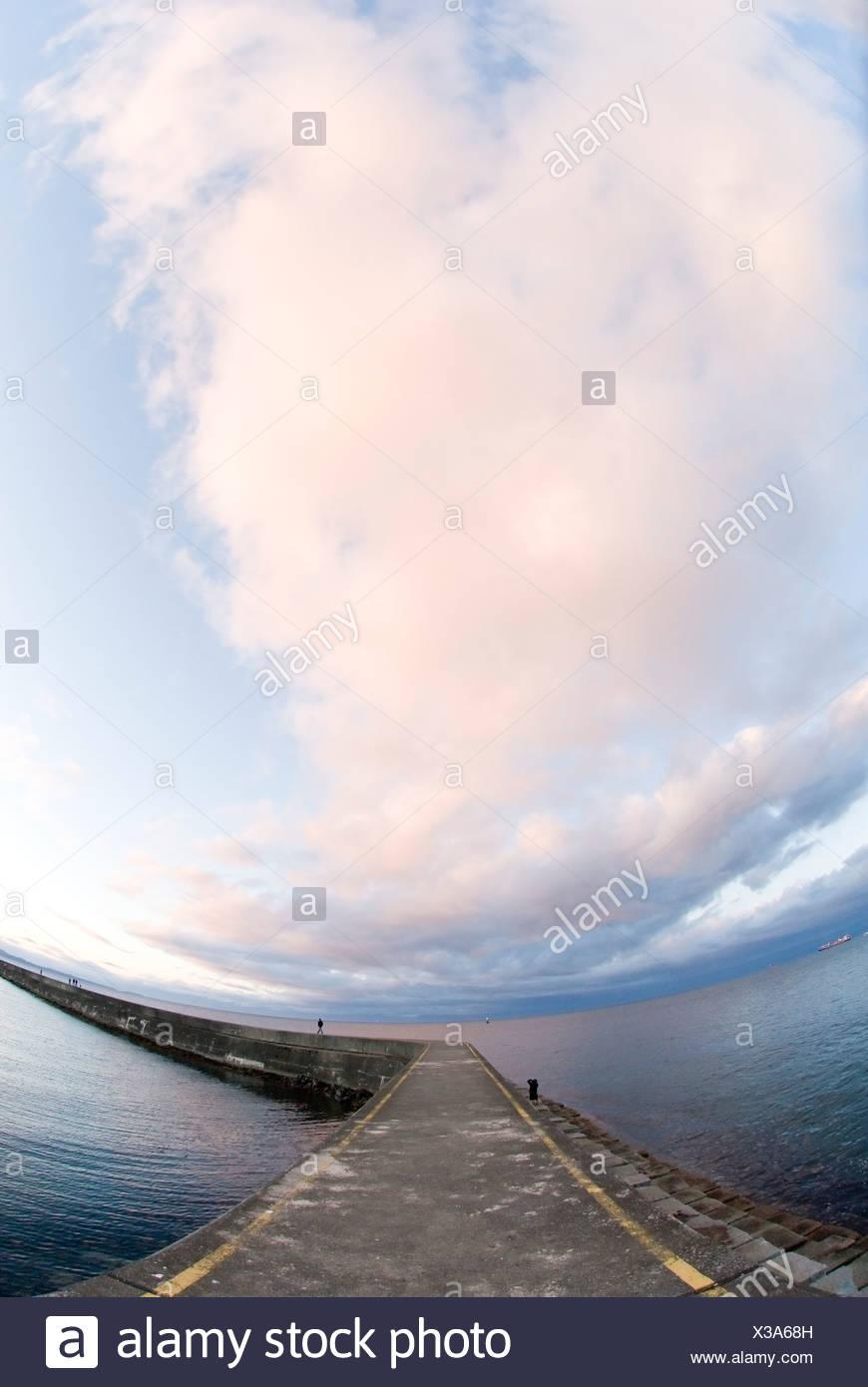Ogden Point Breakwater at Dallas Road, Victoria, British Columbia - Stock Image