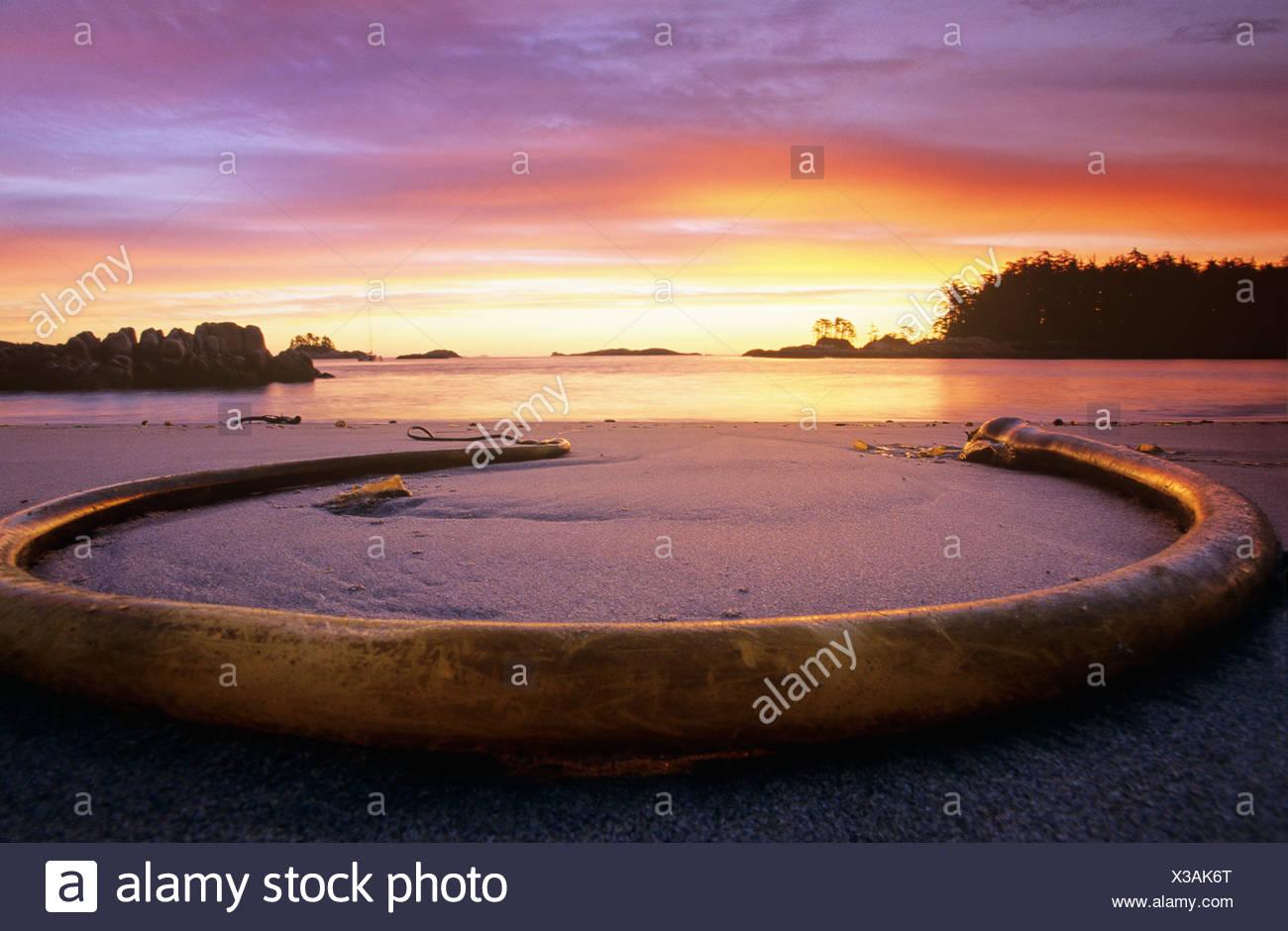 north beach, calvert island, British Columbia, Canada. - Stock Image
