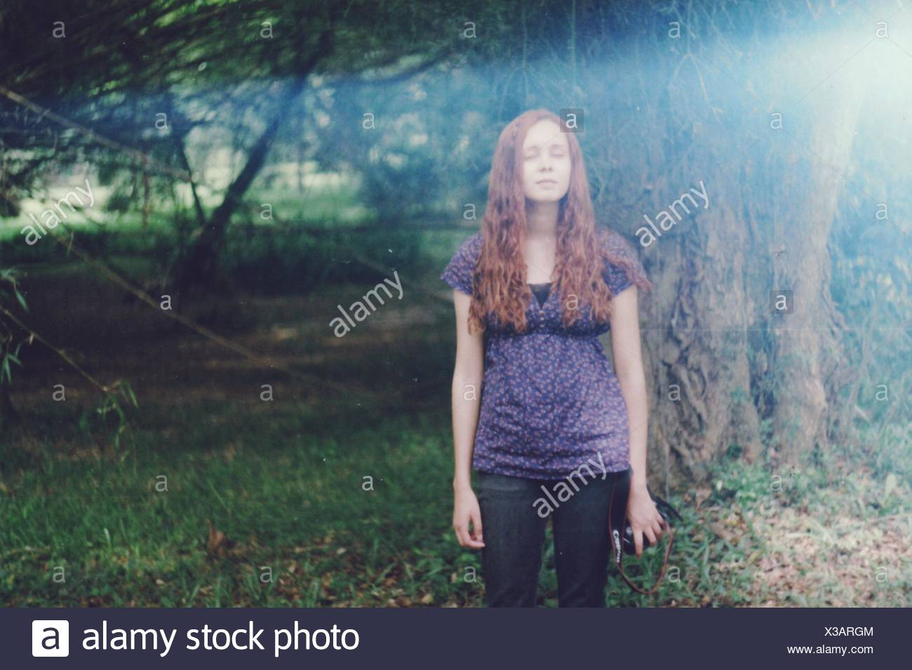 Portrait Of Young Woman - Stock Image