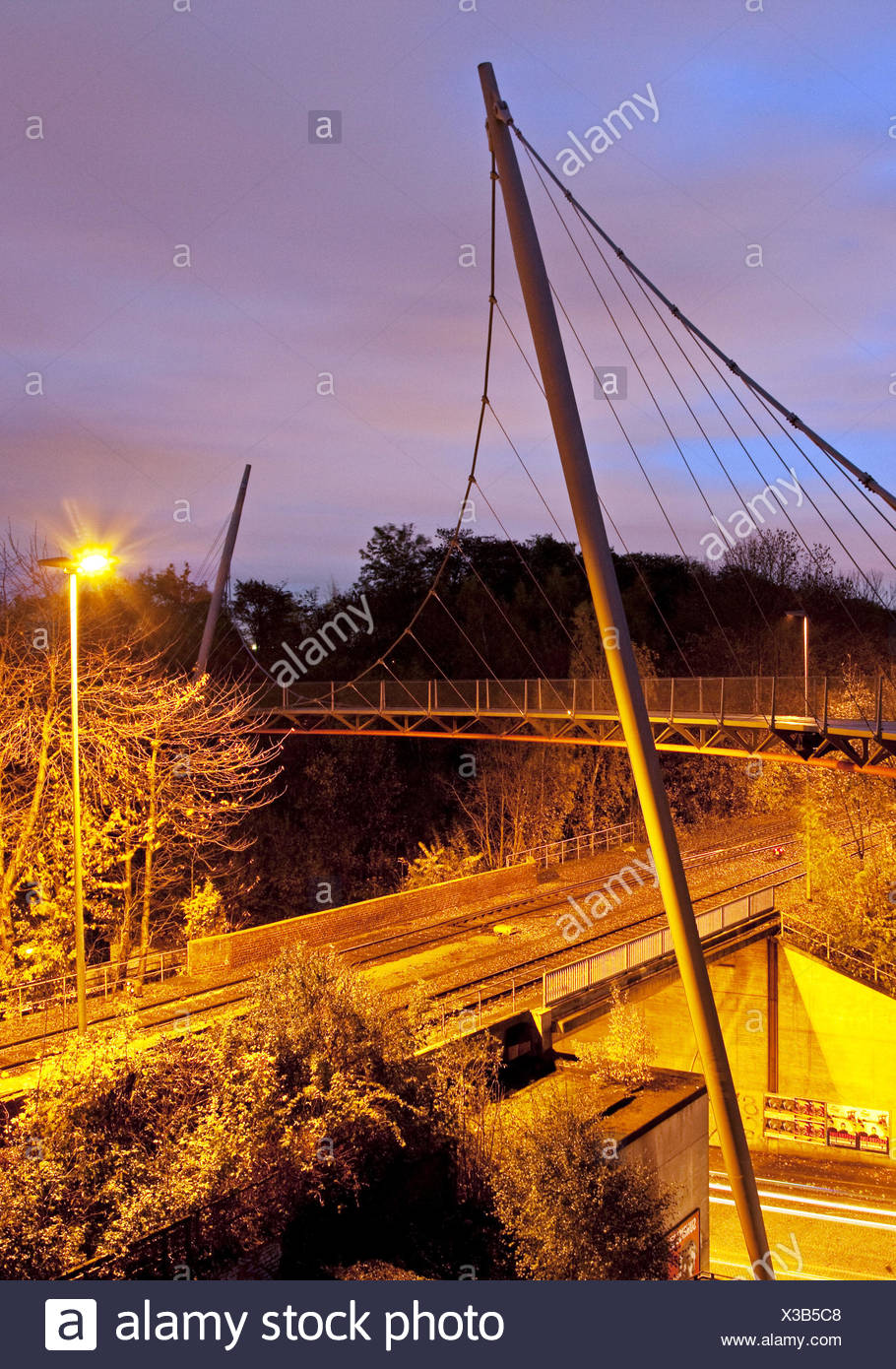 The Erzbahnschwinge in Bochum in Germany. - Stock Image