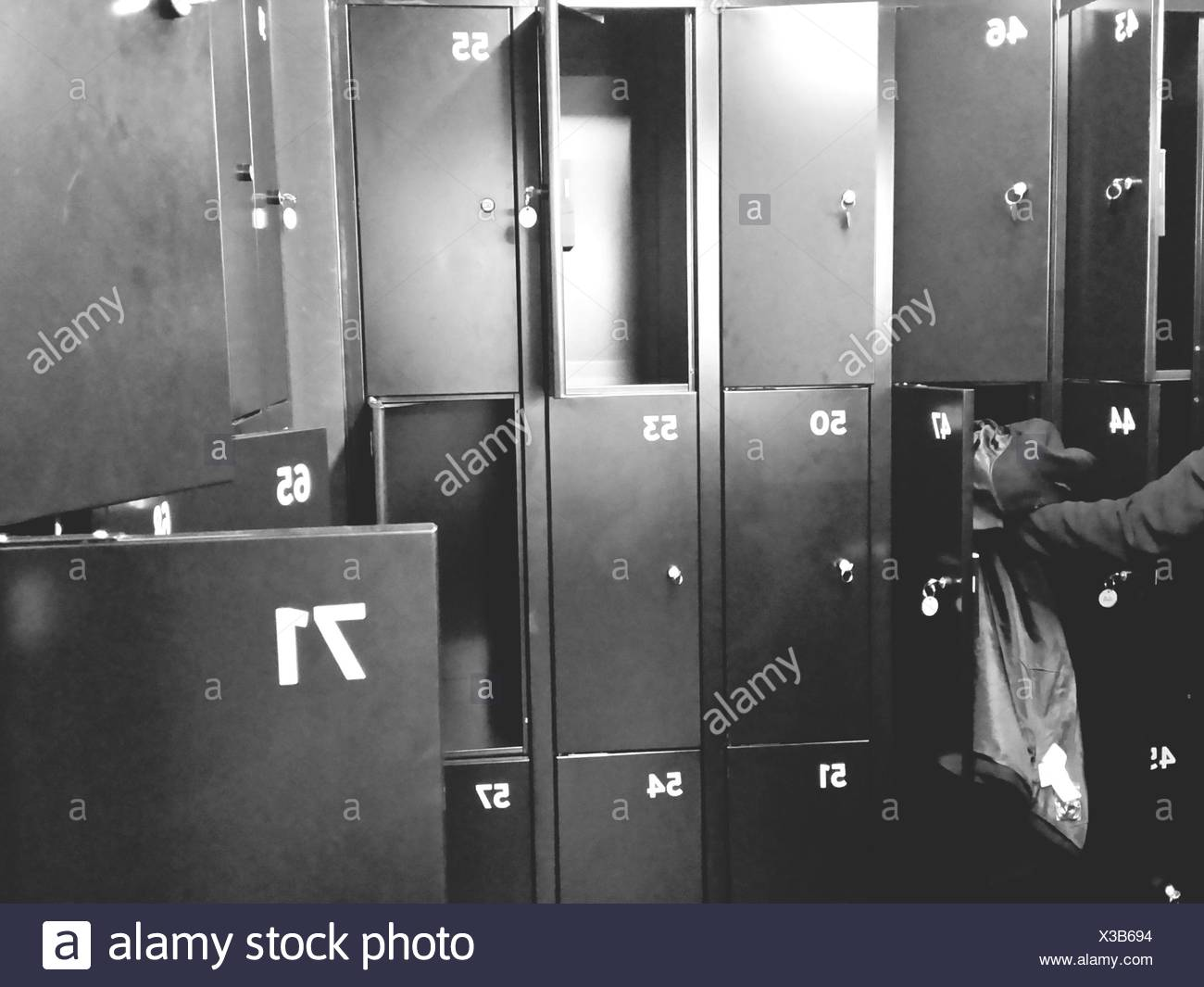 Close Up Of Open Lockers
