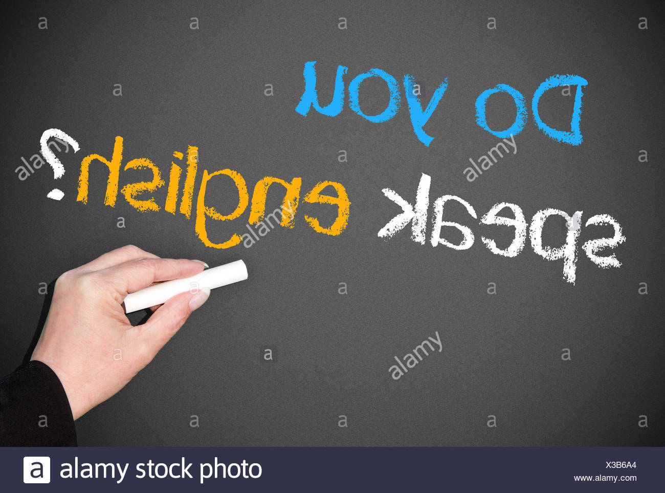 Do you speak english ? Stock Photo