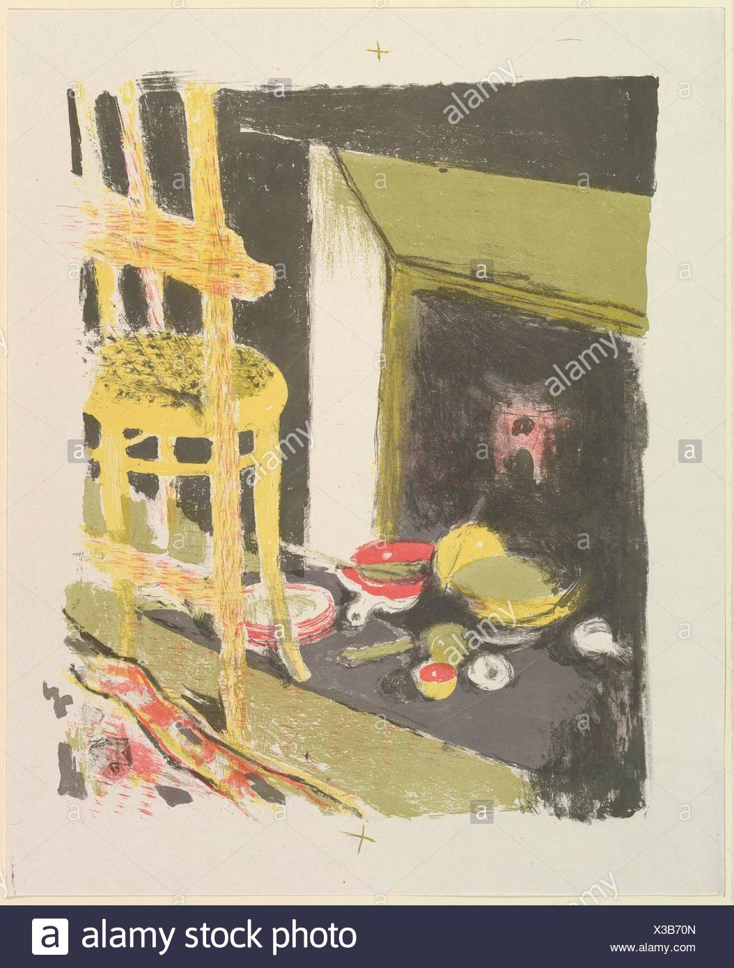 The Hearth, from the series Landscapes and Interiors. Artist: Édouard Vuillard (French, Cuiseaux 1868-1940 La Baule); Printer: Printed by Auguste - Stock Image