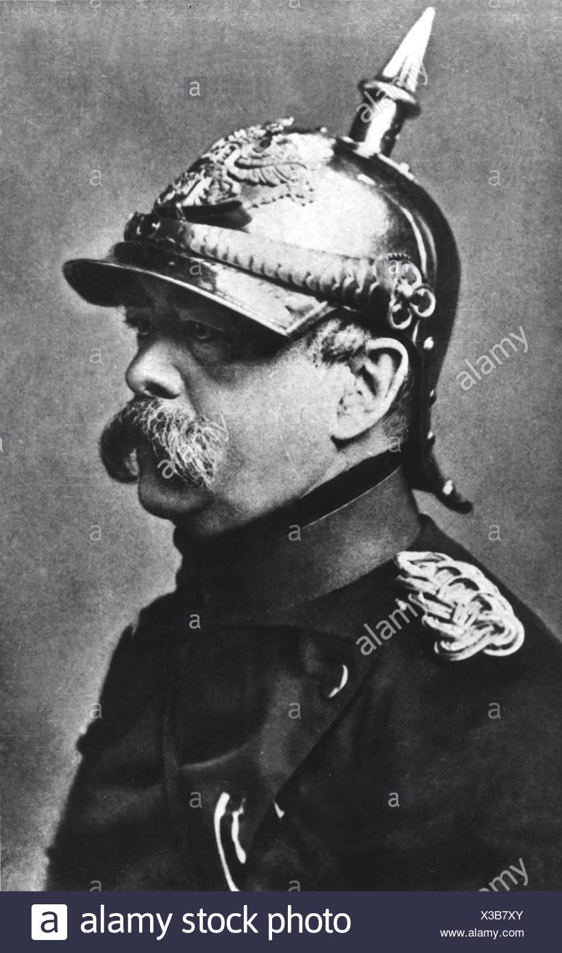 Bismarck, Otto von, 1.4.1815 - 30.7.1898, German politician, Chancellor 1871 - 1890, portrait, uniform of 7th Cuirassier Regiement, 1874, , Additional-Rights-Clearances-NA - Stock Image
