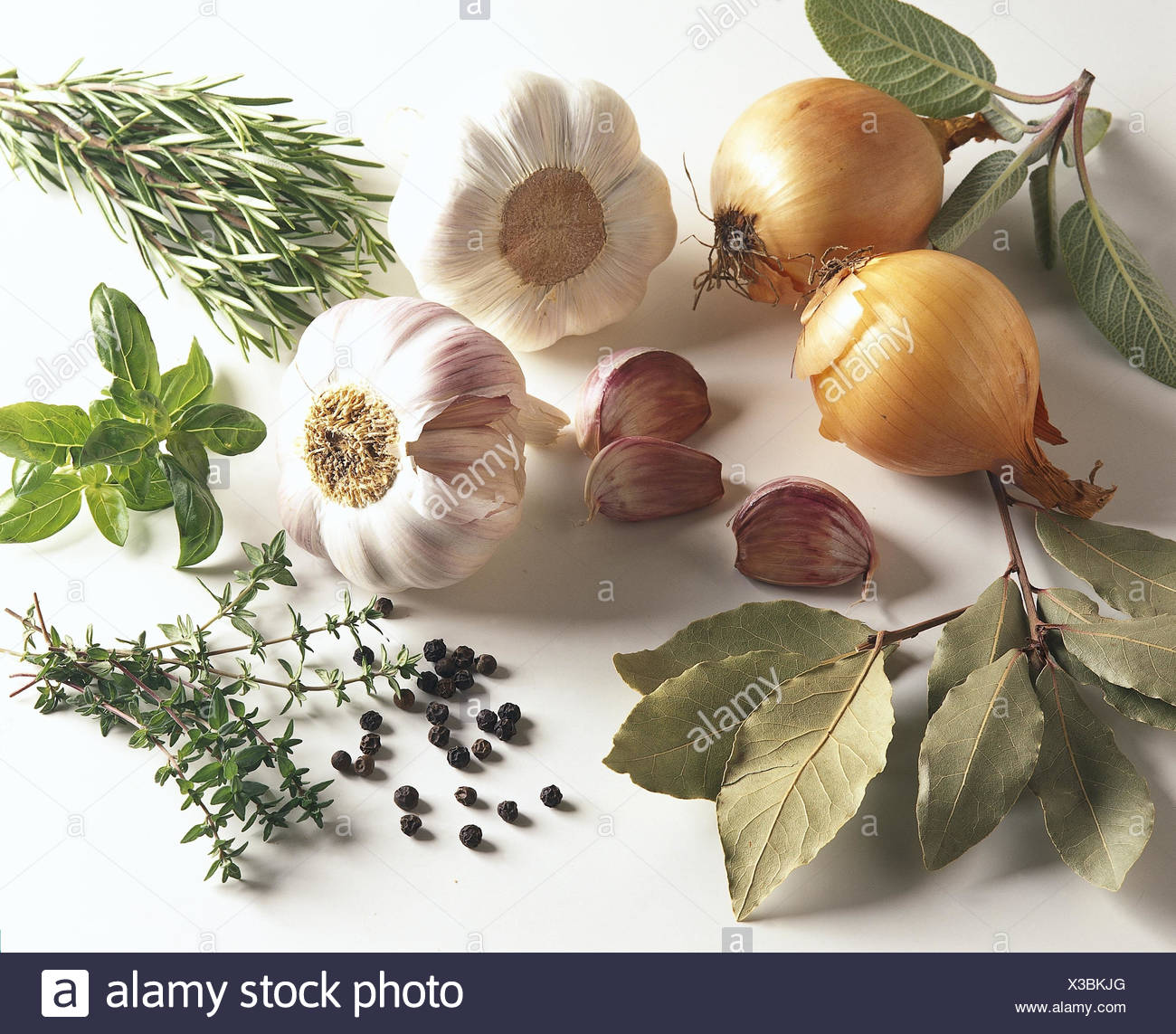 Still life, culinary spices, different, spices, bulbs