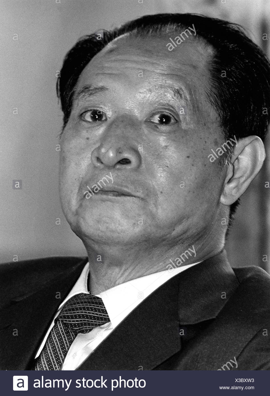 Hu Yaobang, 20.11.1915 - 15.4.1989, Chinese poltitician, 1980 - 1987 Premier of the State Council, portrait, state visit Germany, Munich, 14.6.1986, Additional-Rights-Clearances-NA - Stock Image