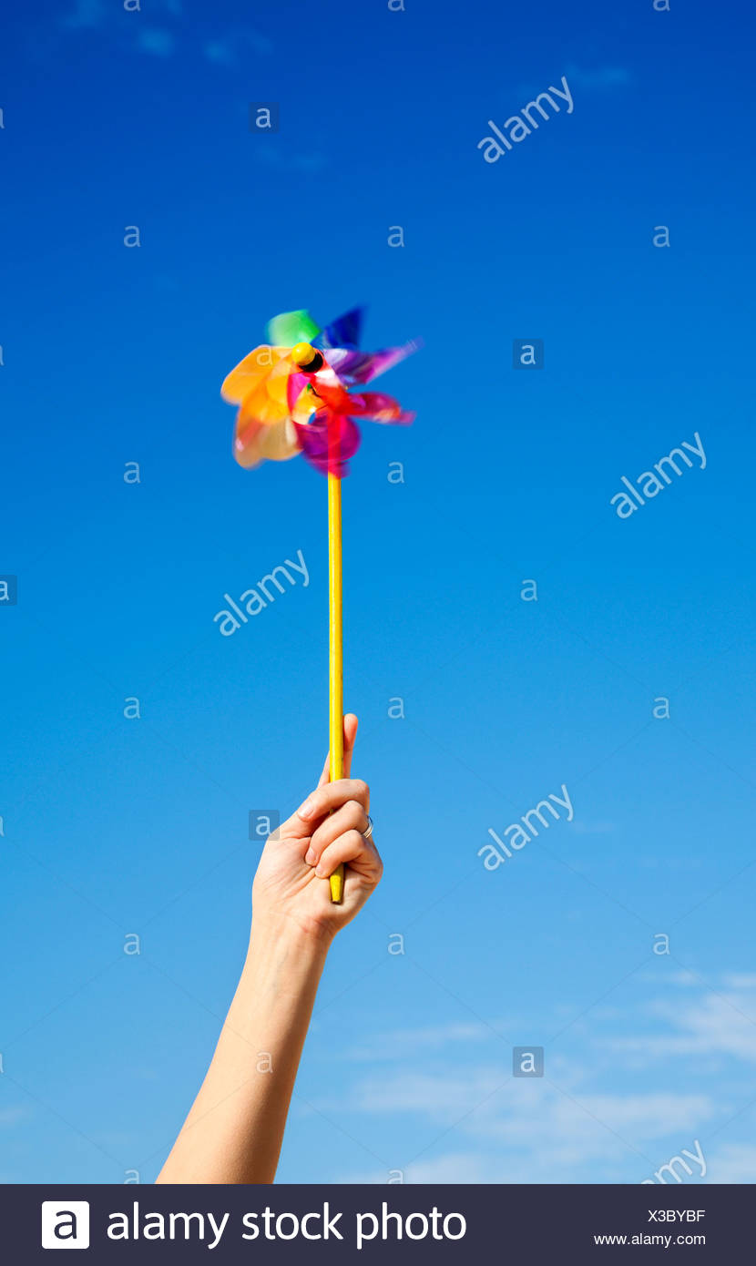Toy windmill - Stock Image