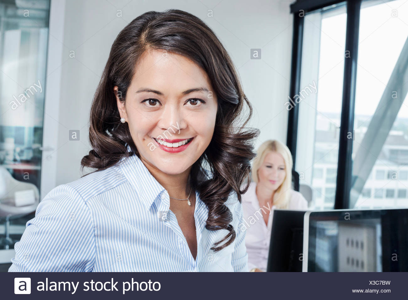 Mature woman in office, portrait Stock Photo