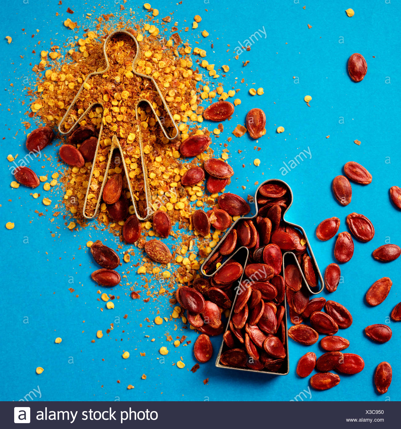 Still Life of Gingerbread Forms with Spices. - Stock Image