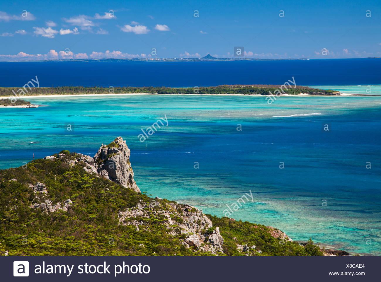 Coastal landscape, Okinawa, Japan - Stock Image