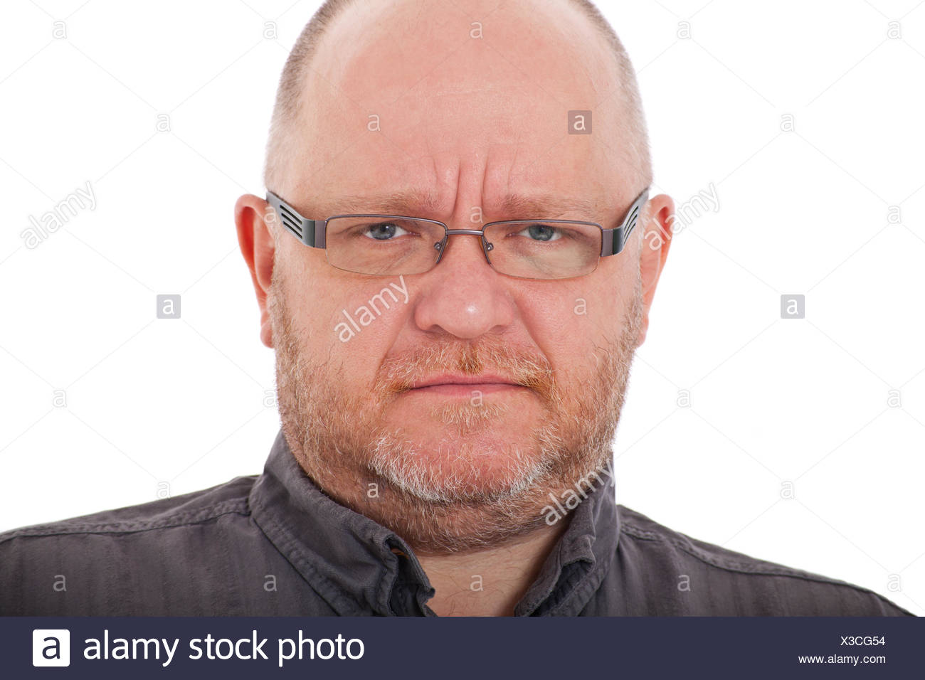 Elderly man in bad mood - Stock Image