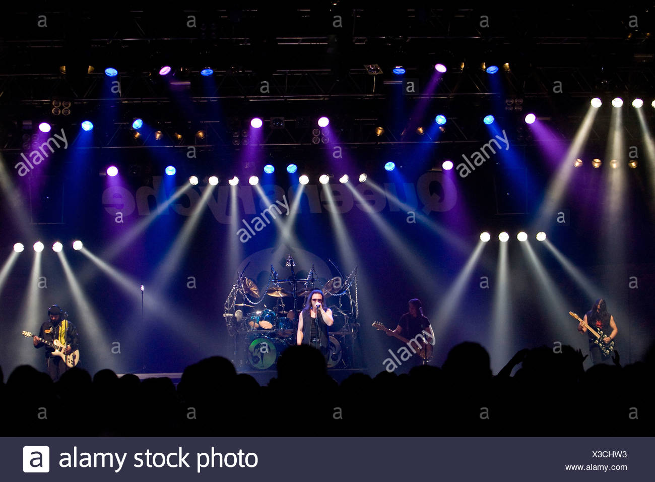 The American Progressive Metal band Queensryche live at Rock Sound Festival in Huttwil, Switzerland, Europe - Stock Image