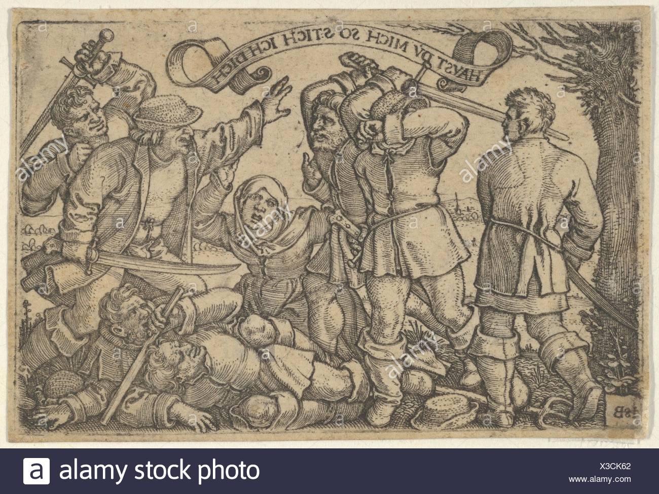 Artist: Sebald Beham (German, Nuremberg 1500-1550 Frankfurt); Date: 1531-50;  Medium: Engraving; second state of two (Pauli);